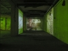 14 Corridor with projection on wall and textile