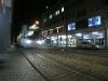 Tram passing the installation
